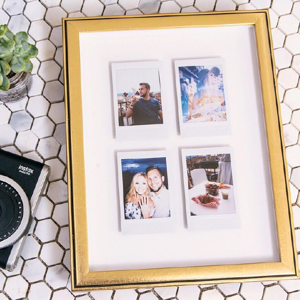 Instax Minis in rose gold rosemont frame