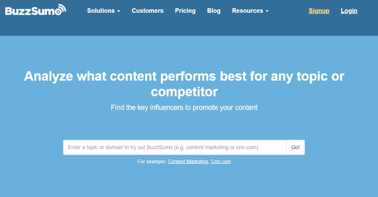 Using social media for nonprofits with Buzzsumo