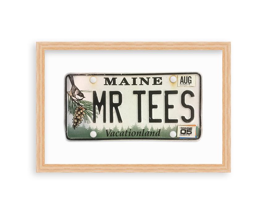 framed maine vanitty license plate