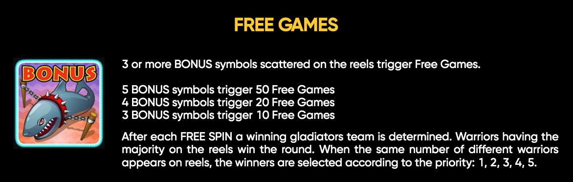 Gladiators free spins