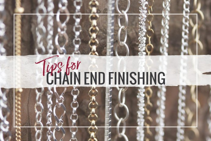 Learn tips for chain finishing to make necklaces or other jewelry from bulk footage chain lengths. See how to solder chains for secure clasp connections.