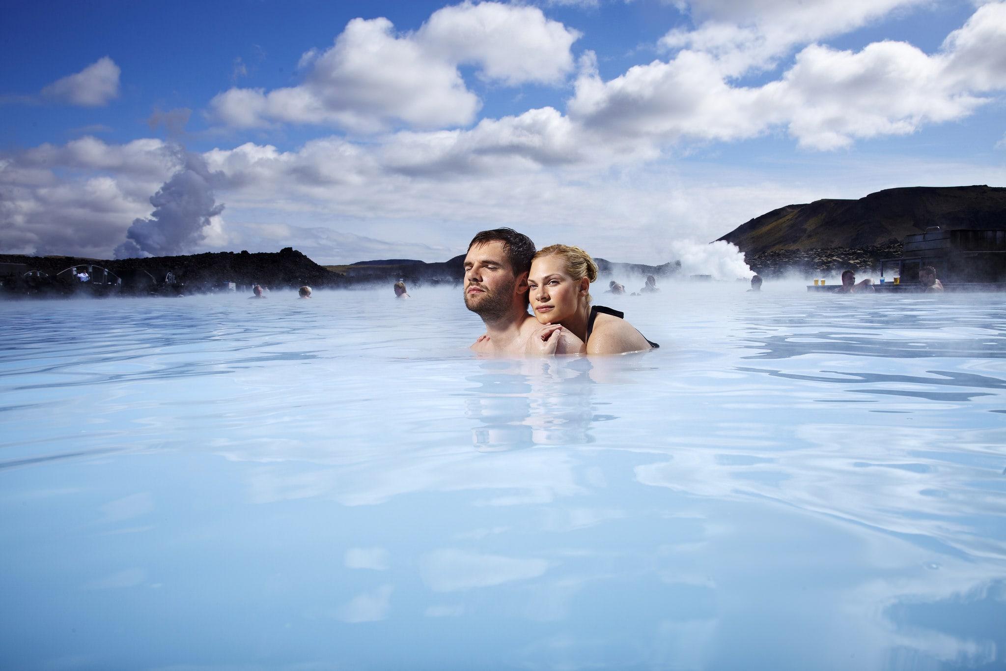 Iceland hot springs blue lagoon honeymoon