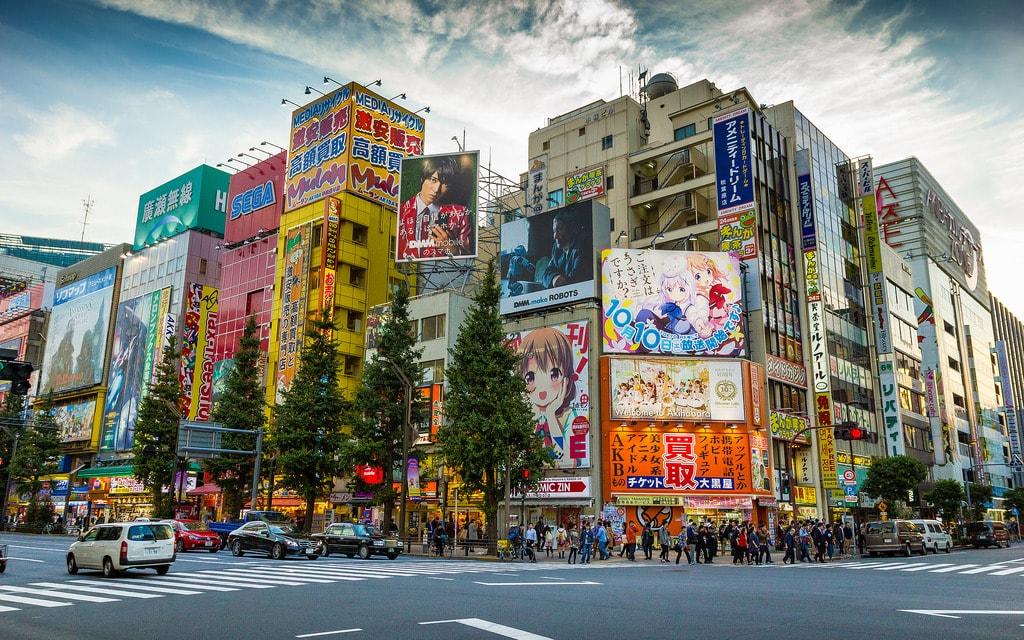 Akihabra Shopping District in Tokyo, Japan