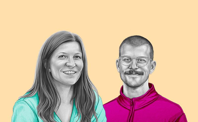 Making tech human, yellow background