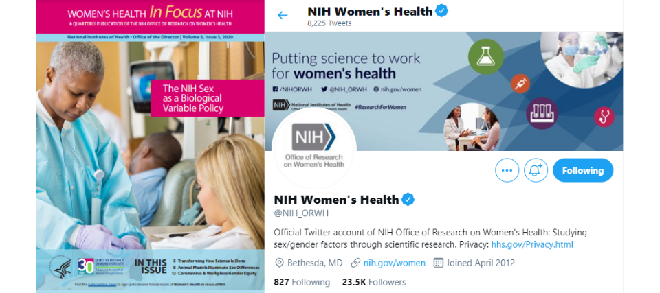 On June 4, 2021, Synergy received two Digital Health Awards for work produced and written for the National Institutes of Health's (NIH) Office of Research on Women's Health (ORWH).