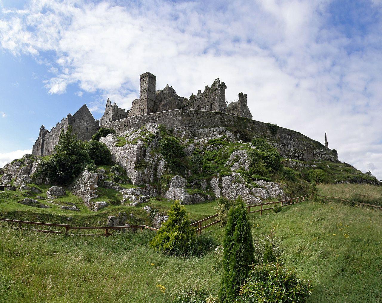 The impressive Rock of Cashel is a cool place to visit in Ireland