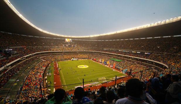 Futbol Game in Estadio Azteca in Mexico City