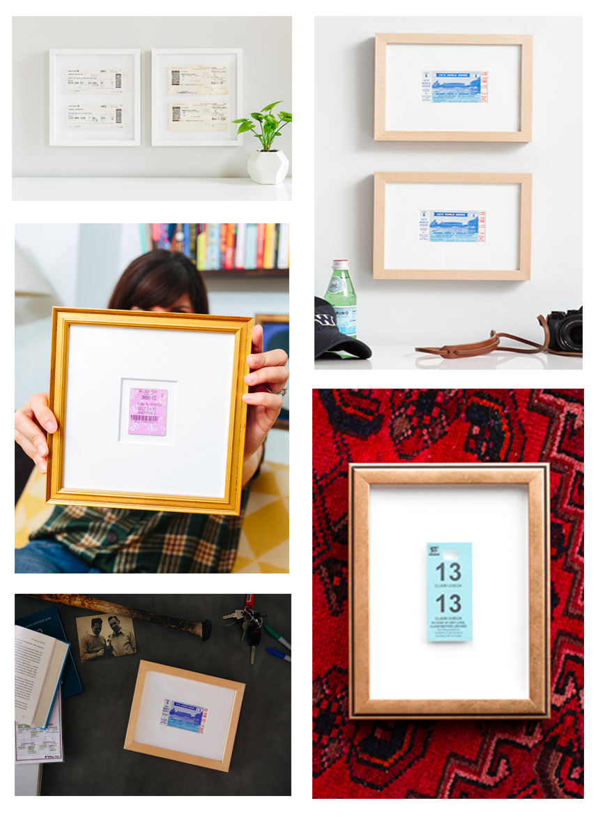 How To Frame A Ticket Inspiration Tutorial Framebridge