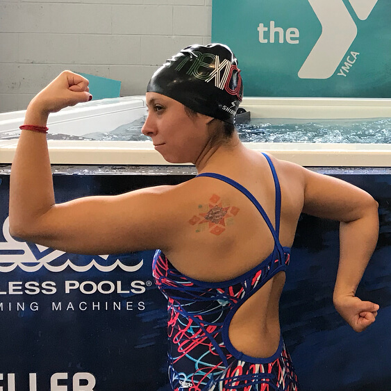 Mexican Masters swimmer Helenah Fragoso felt empowered at the Elite Endless Pool at the YMCA Aquatic Center in Orlando