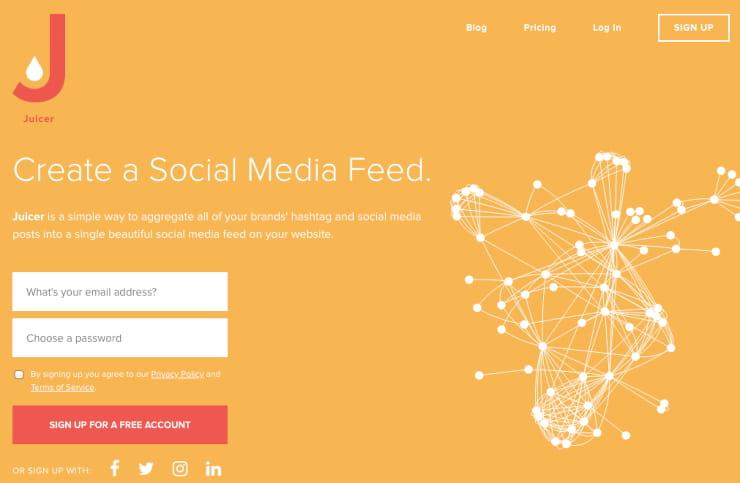 Juicer social aggregator