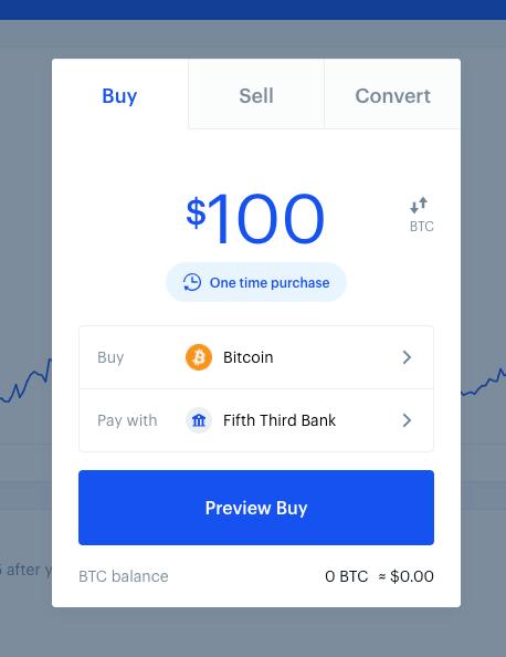 Coinbase order entry