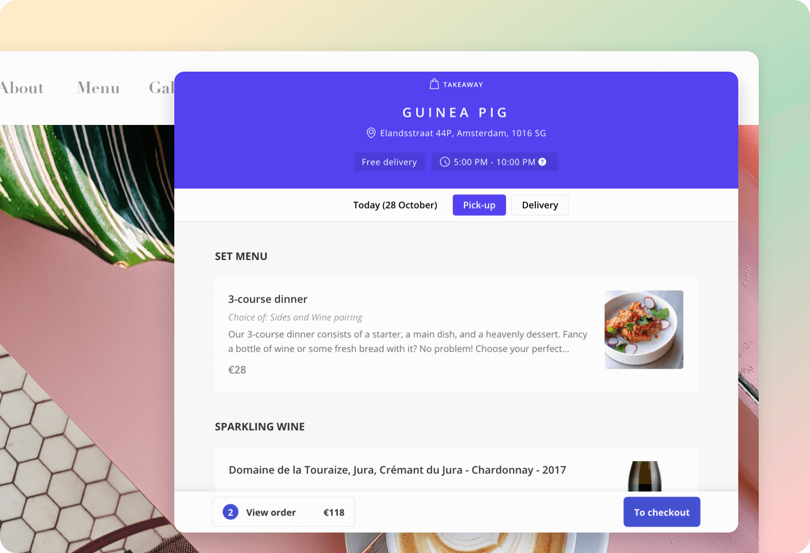 Create you own menu with product descriptions and images
