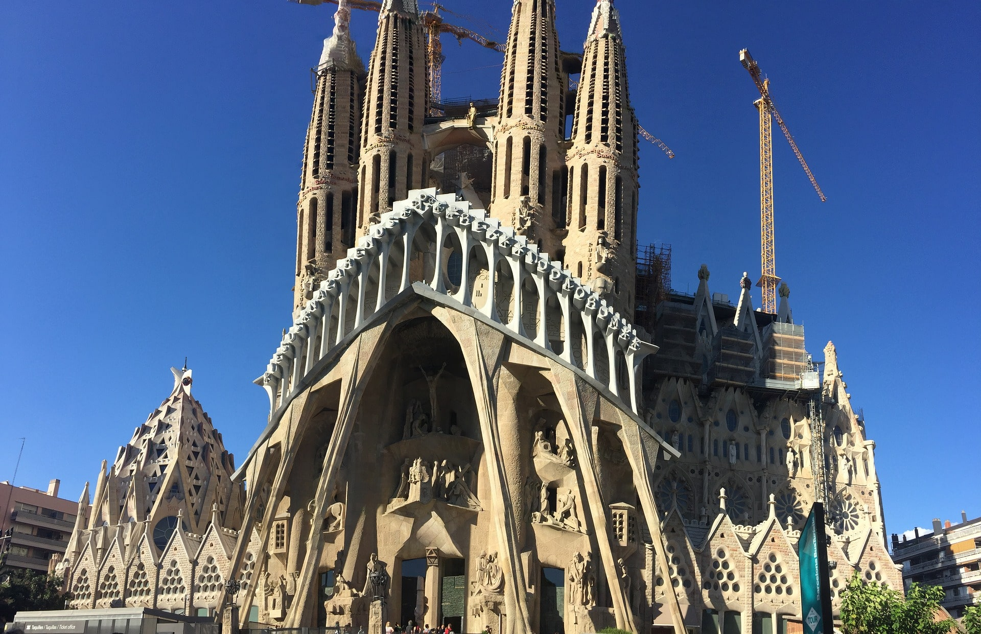 La Sagrada Familia in Barcelona is one of the most impressive places to visit in Spain