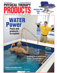 a Commercial Endless Pool featured on the cover of Physical Therapy Products magazine