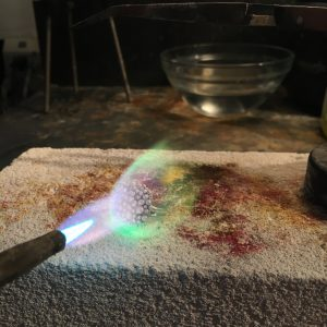Jewelry soldering torch distance