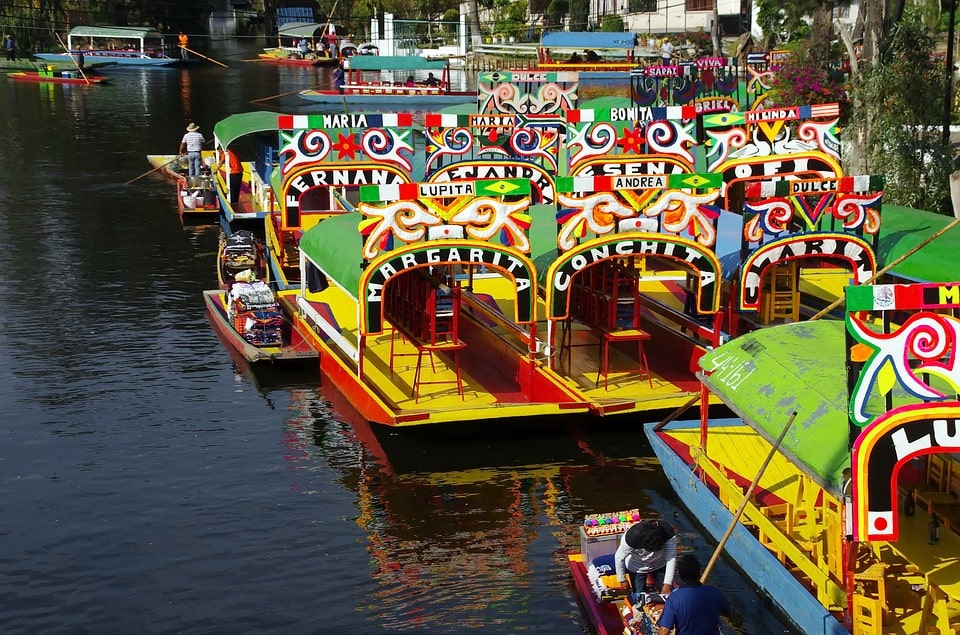One of the more colorful Mexico City tours involves a visit to lively Xochimilco