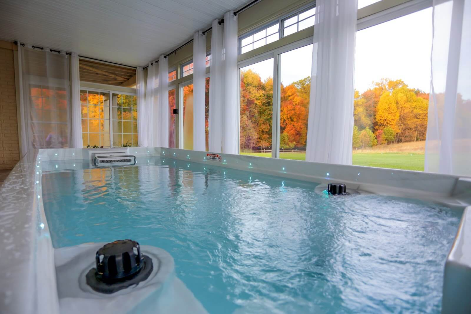 an indoor Endless Pools Swim Spa in Maryland
