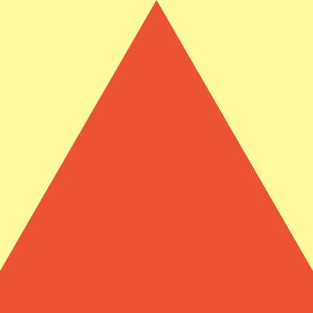 orange triangle on yellow square background