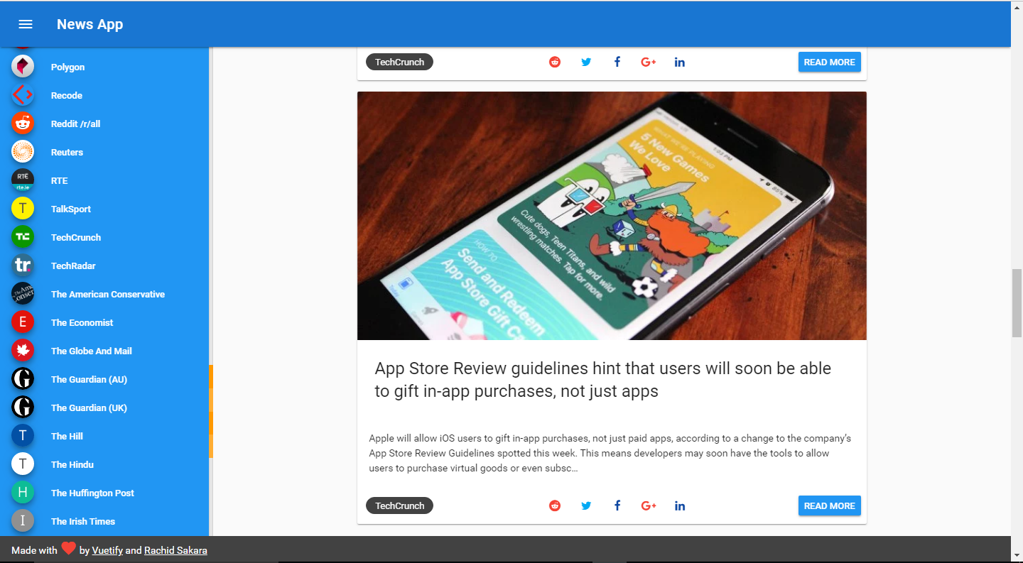 Build a Beautiful Animated News App with Vue js and Vuetify | ButterCMS