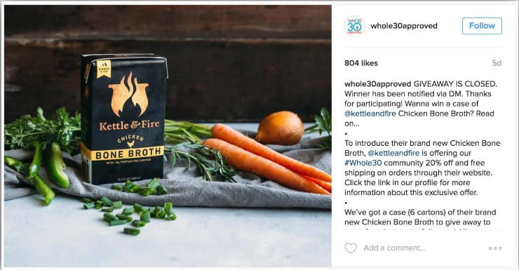 ecommerce working with influencer on Instagram