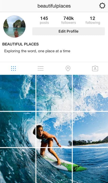 unique instagram feed theme