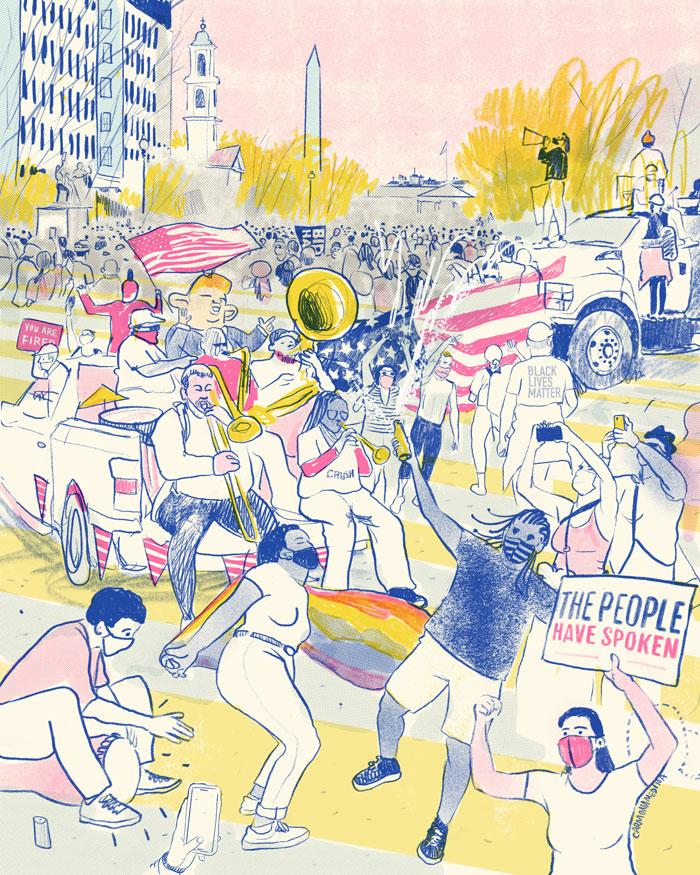 illustration of Black Lives Matter plaza