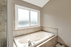 bathroom tub with Slider window replacement