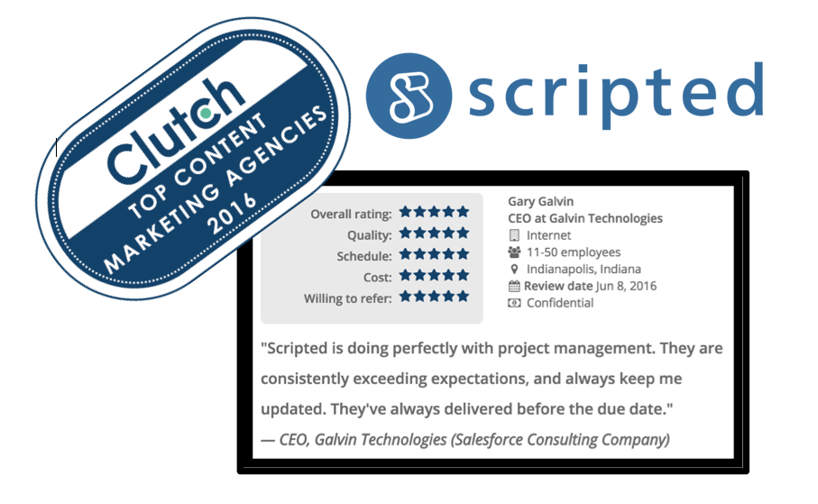 Scripted Featured as a Top Content Marketing Company