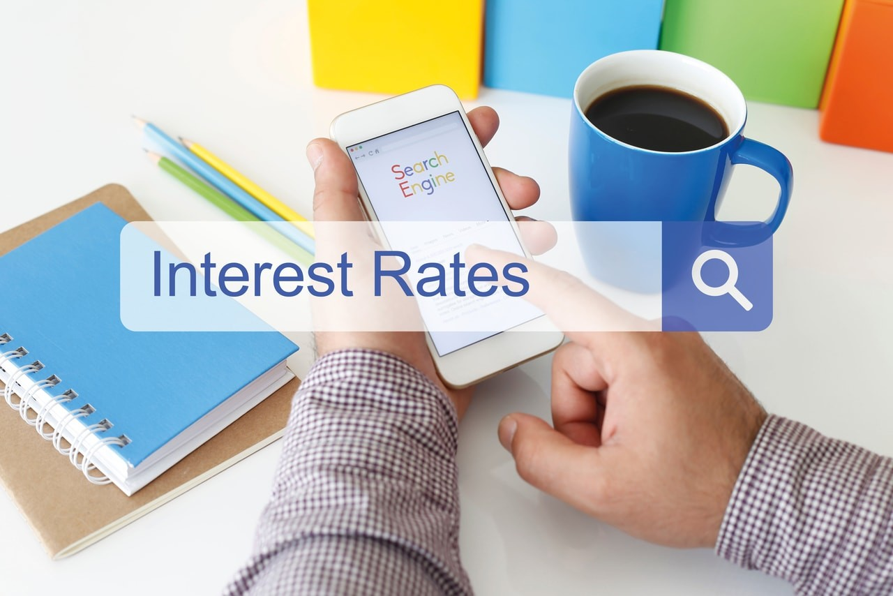 searching for interest rates on search engine