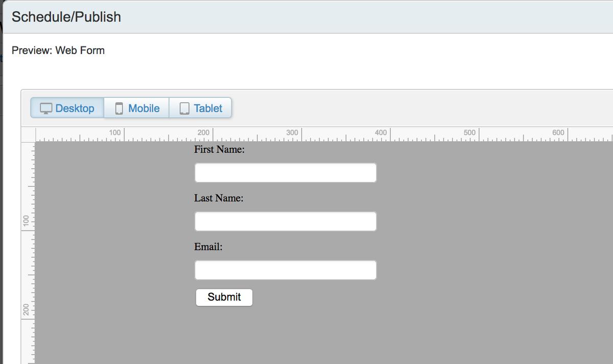 Publish Landing Page