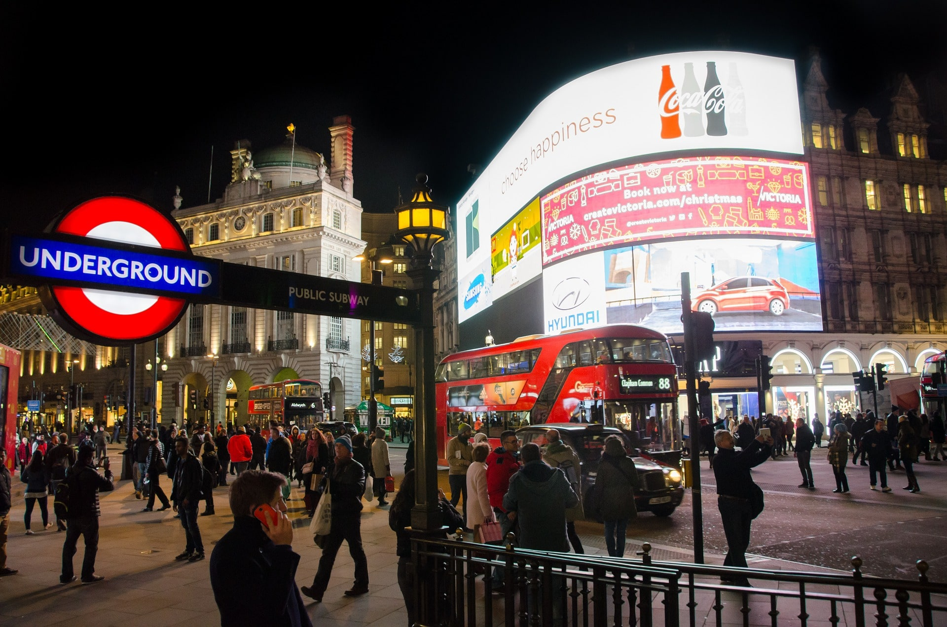 Checking out Piccadilly Circus is a fun thing to do in London