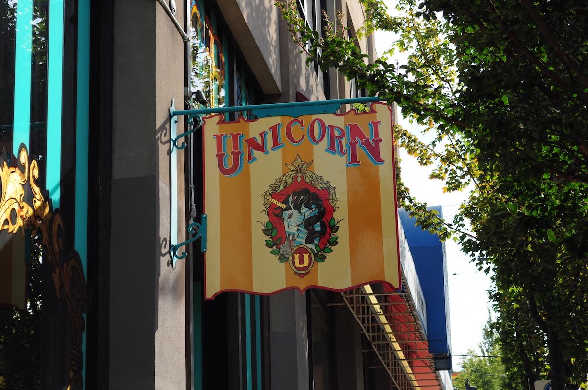 sign outside Unicorn