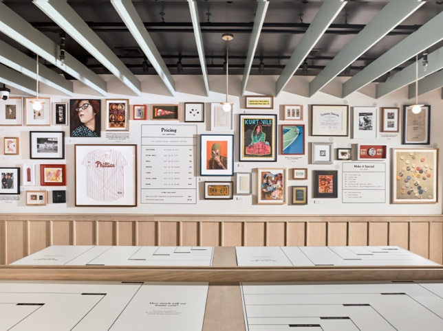 gallery wall in retail space