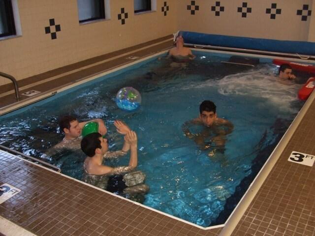 The in-ground Endless Pool at Kulanu Torah Academy