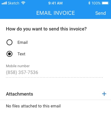 Send Invoice - Field tech