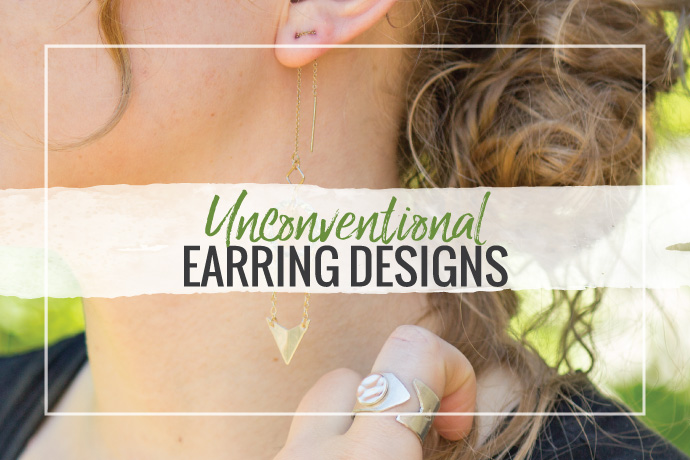Be inspired to make fresh, new earring designs using unconventional findings with the latest fashions in jewelry. Check out these ideas.