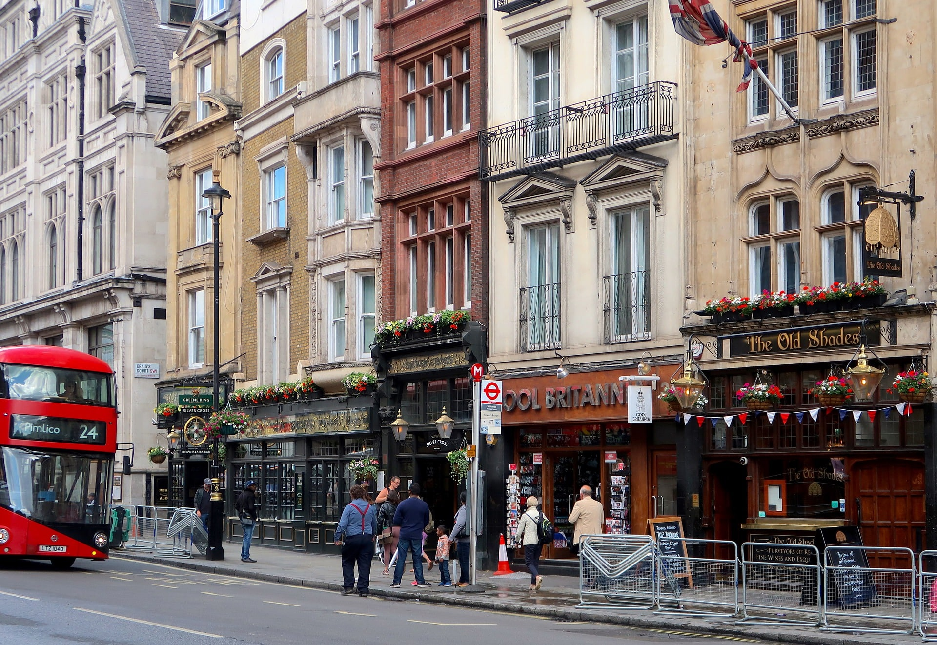 Fun places to visit in London are the city's plethora of pubs