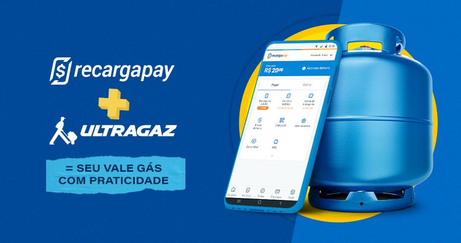 Compre seu vale-gás Ultragaz pelo RecargaPay