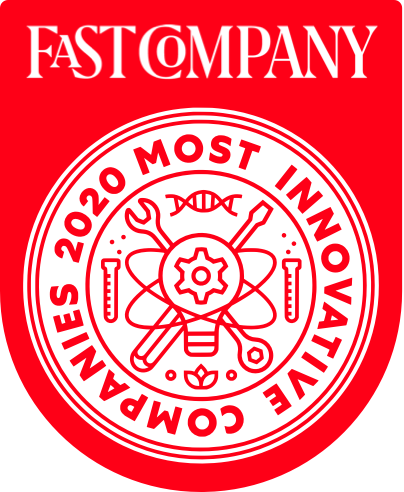 most innovative company 2020 badge