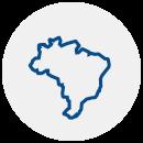 Ícone mapa do Brasil