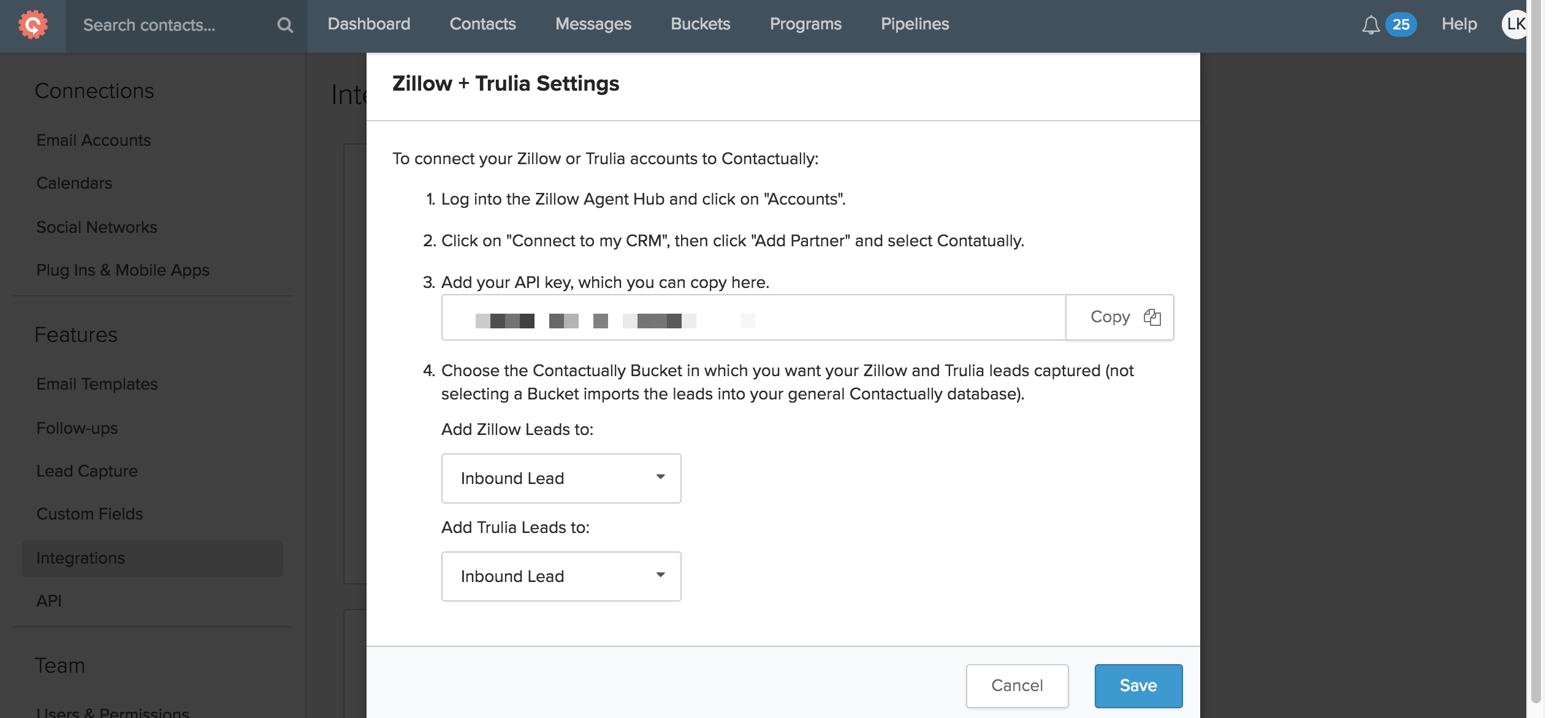 Configuring your Zillow Group integration