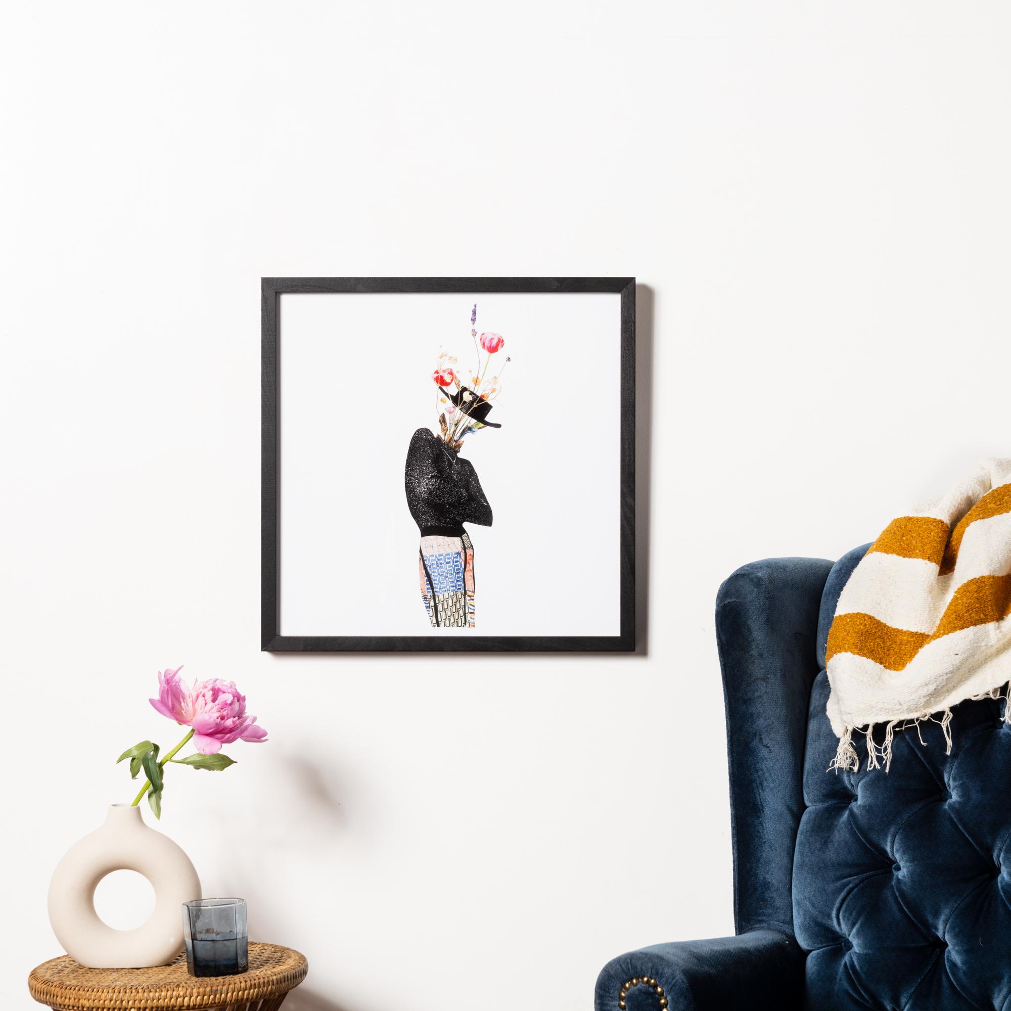 Framebridge Black Artists Print Shop Marryam Moma Le Bel Homme framed print black walnut gallery frame