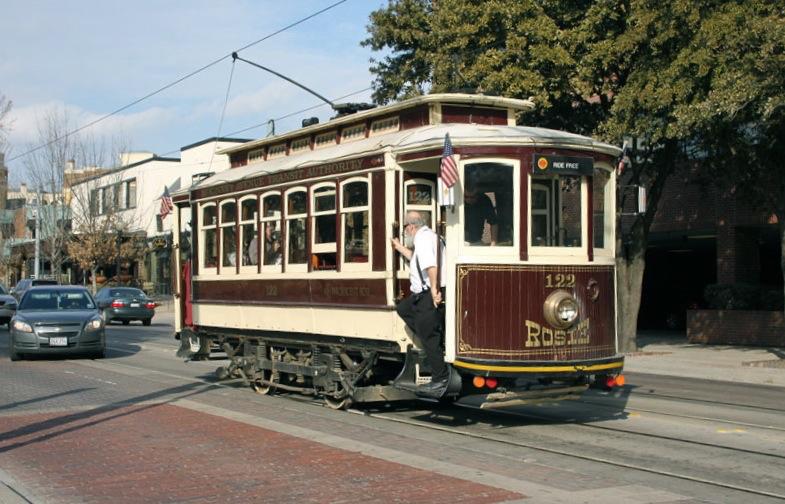 Historic McKinney Ave trolley in Dallas
