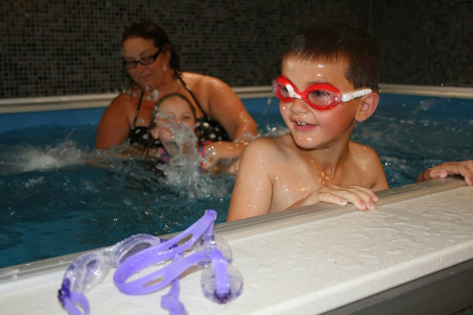 family fun in the Endless Pool at the Cornwall Pools Swimathon