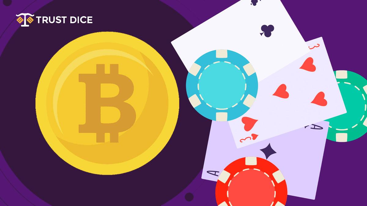 TrustDice Bitcoin casino cards and dices