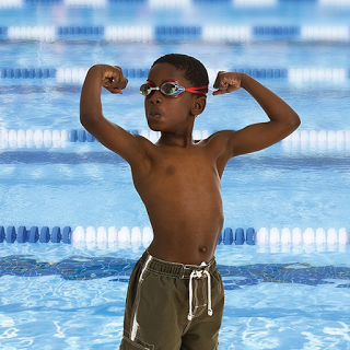a young African-American swimmer