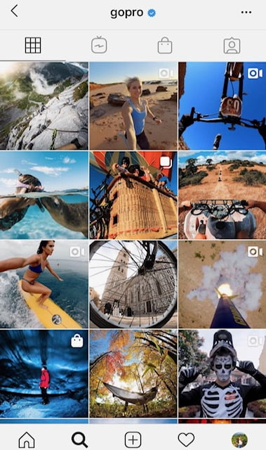 GoPro User Generated Content Instagram