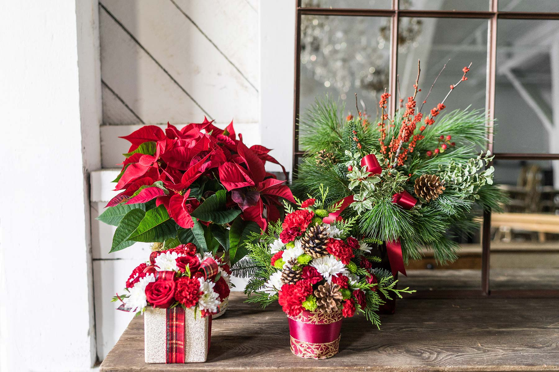 Can you give flowers for Christmas?