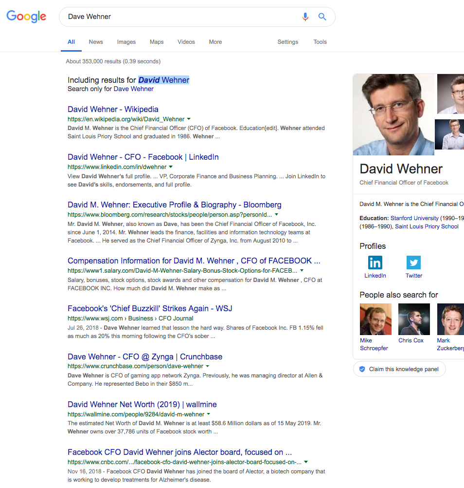 david wehner google