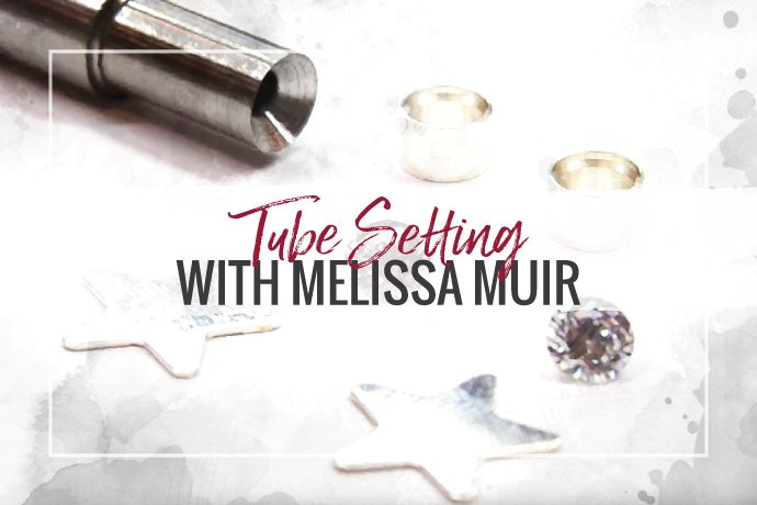 Learn how to make fast and gorgeous tube set earrings with Melissa Muir!